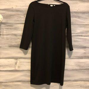 GAP Black 3/4 sleeve dress